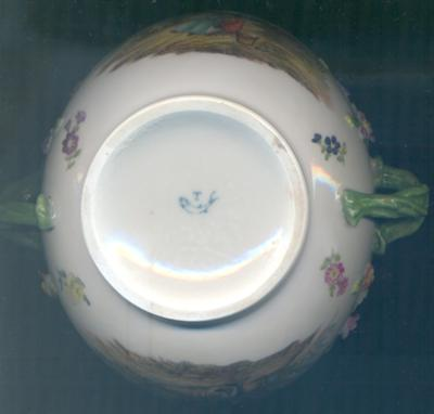 T letter and a fish Porcelain Marking