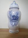 Antique albarello maiolica hand painted apothecary pot / jar - Italian or Spanish?