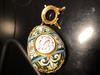 with stand - Russian silver and cloisonne enameled egg