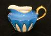 Blue Creamer - Japan Pottery Mark Query - Cherry Blossom Motif  in Red with