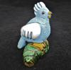 Little Blue and white Ceramic Parrot Bird