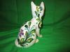 Large brightly colored ceramic cat MADE IN ITALY T.K.C TX/?B
