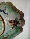 Majolica or Faience plate with V over T marking