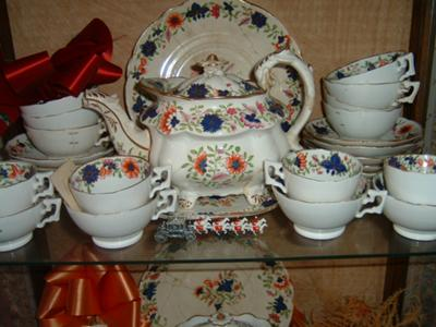 & Unmarked Antique bone china means OLD!