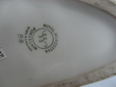 Variation of Standard Royal Worcester mark on stag head vase