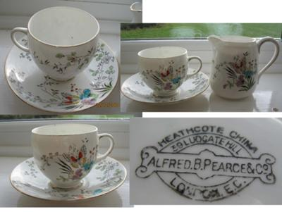 Alfred B Pearce & Co Heathcote China 39 Ludgate Hill