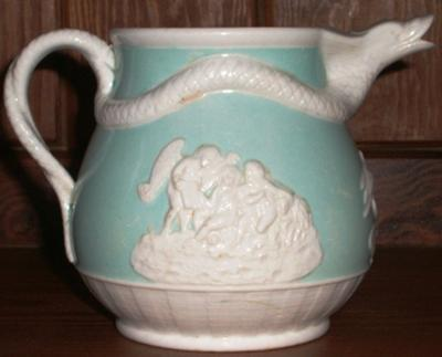 Antique and fine china query -  jasper ware style Serpent jug - John Turner of Lane Ends c.1785-1800?