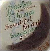 Antique Bone China Query:  Roslyn, Sutherland, Tuscan, Royal Albert, Colclough, Royal Wessex, Queen Ann, Delphine, Royal Doulton, Crown Lynn. Image: Roslyn China - originally a pottery mark of Reid & Co