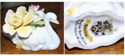 Thorley's of Staffordshire - Swan With Flowers - Fine Bone China