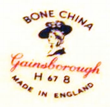Gainsborough Bone China Pottery Mark Query