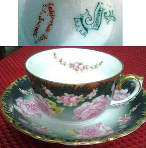 germany s mark on cup & saucer