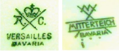 Rosenthal's 'Versailles' and Mitterteich's Pottery Marks