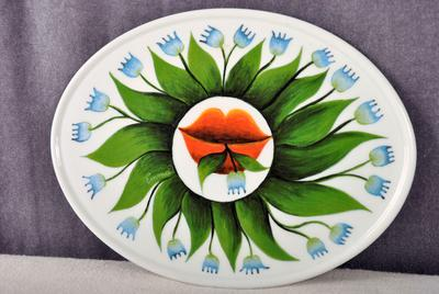 Face side of plate