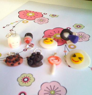 COLD PORCELAIN PASTE CHARMS