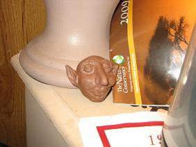 Strange Little Man - I used an air drying clay to sculpt