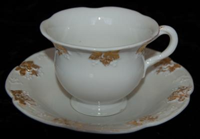 Meissen Mark & Dating Query - Cup and Saucer Vine Leaf