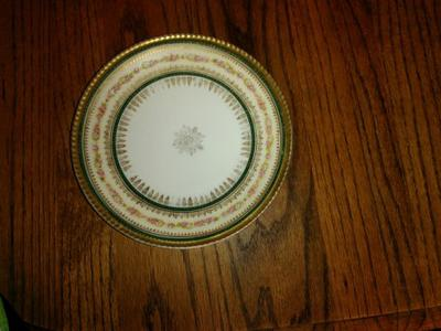 Plate is 7 5/8  Hohenzollern porcelain mark H & Co