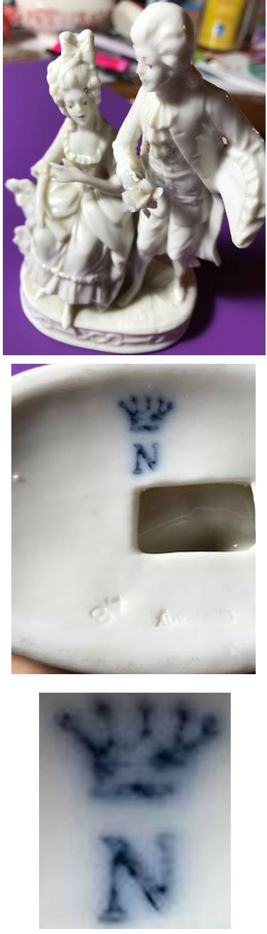 German 'Crown Mark with N' Porcelain Mark - A J  Uffrecht & Co Figurine?