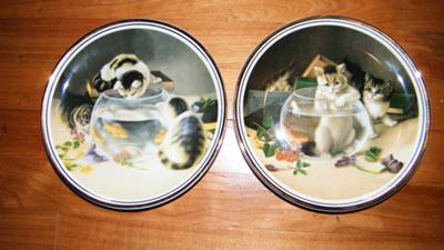 both plates - Playful Moments Collectible Plates