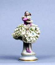PORCELAIN BALLERINA FIGURINE with GDR initials