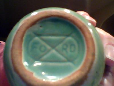 Pottery mark - 'Ford' inside oval with a cross like an 'x'