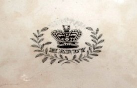 Pottery Mark Query - Crown above the word HARDY with a laurel leaves surround