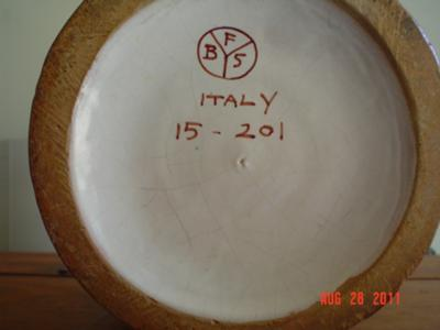 Pottery Mark Query - FBS OR BFS in Circle, Italy, 15-201