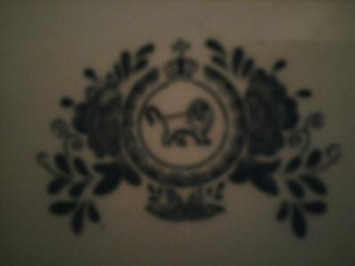 Pottery Mark Query - Lion encircled with leaves with hovering crown