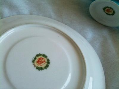 Pottery Mark Query - N&C Japan wreath red yellow green