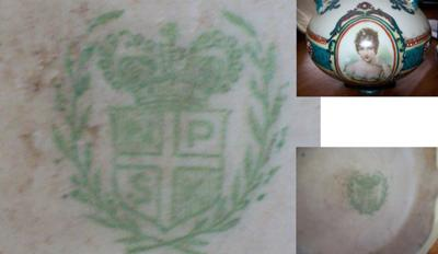 Pottery Mark Query - NPSK above a crown inside wreath or laurel device