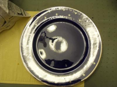 Rorstrand Fleur de Lis LARGE Platter with the 3 Crown Pottery Mark