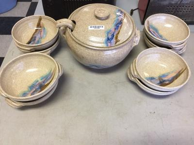 Studio pottery with a flash of color